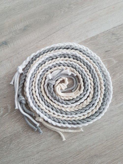 Pleciony sznur- biały