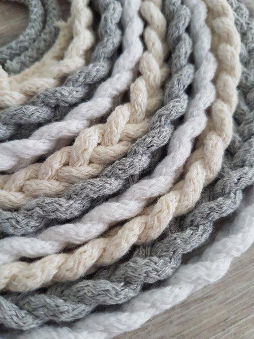 Pleciony sznur- beżowy
