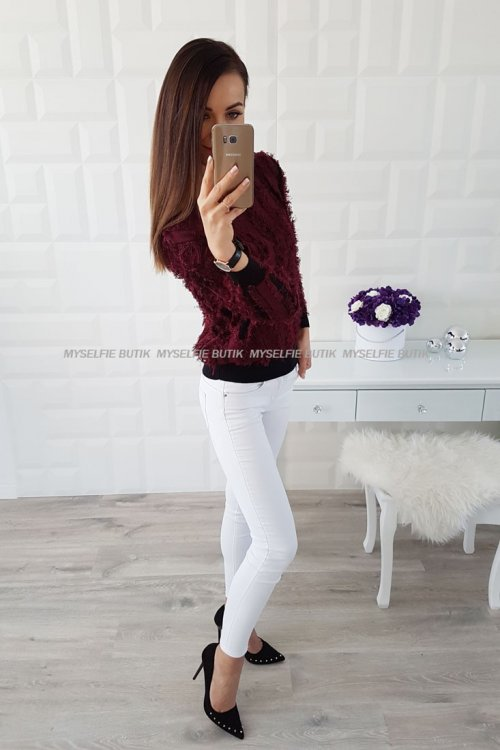 Sweter CRAZY bordo