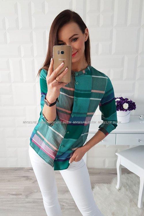 Koszula KRATKA zielona