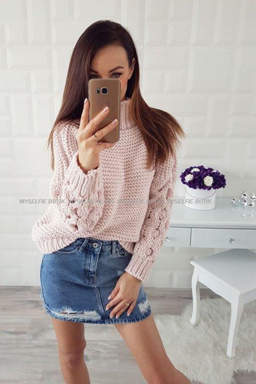 Sweter MIA różowy