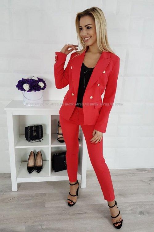 Spodnie ZARAH czerwone
