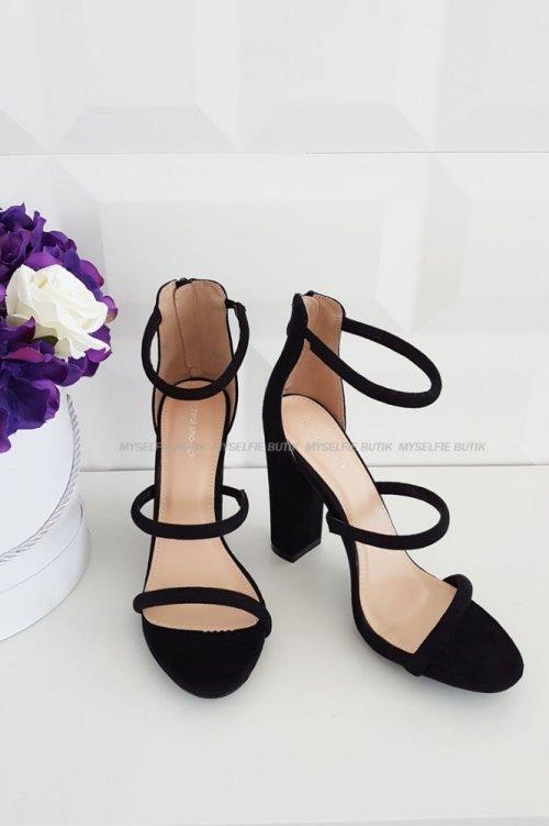 Sandały na słupku VS-04- black