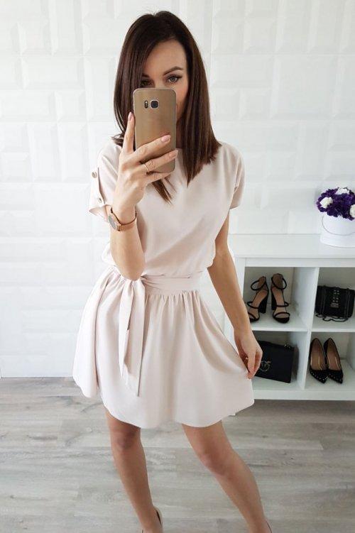 Sukienka STYLE beżowa