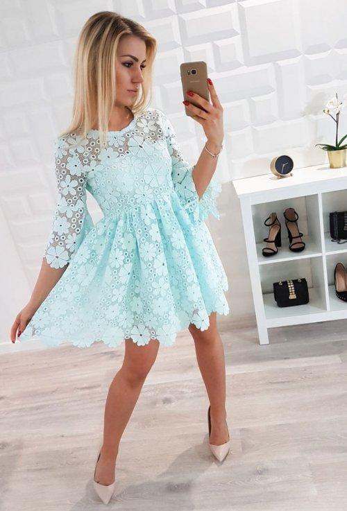 Sukienka SORAYA miętowa