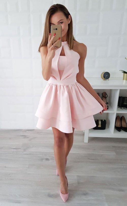 Sukienka NATALIA różowa