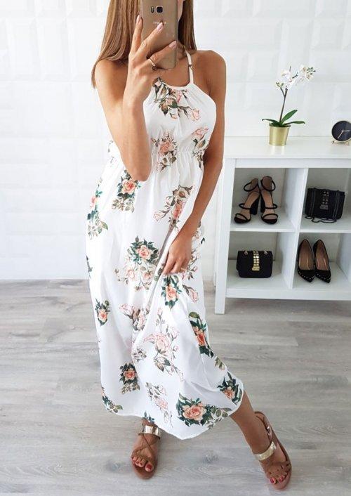 Sukienka SUNSET biała w kwiaty