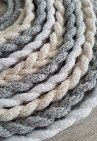 Pleciony sznur- szary