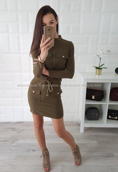 Sukienka CARMEN khaki