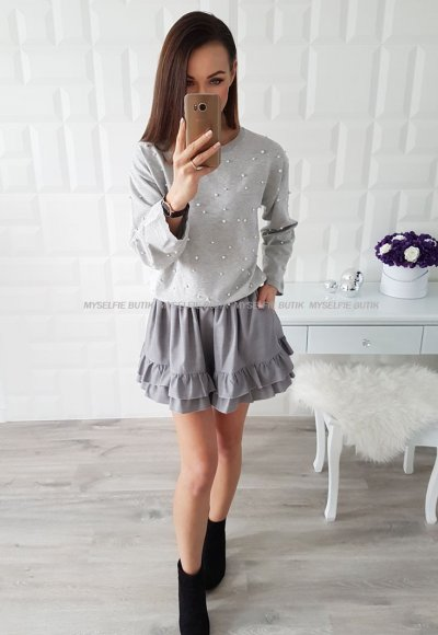 Sweter SIENA popiel