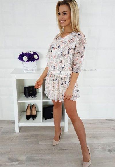 Sukienka SEILA kwiatowy wzór