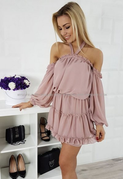 Sukienka PALERMO pudrowy róż