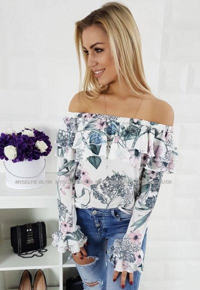 Bluzka NATALY I kwiatowy wzór