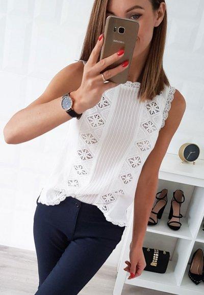 Bluzka PARIS biała