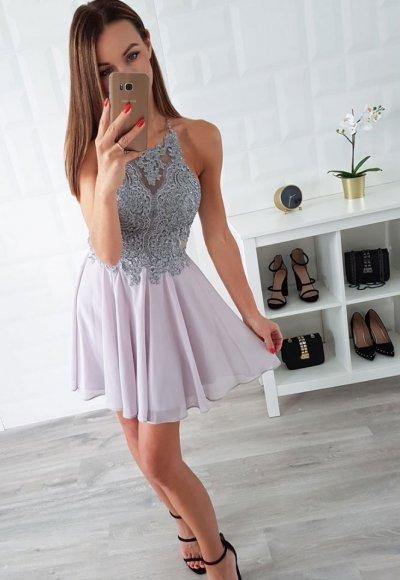 Sukienka MERCEDES popiel