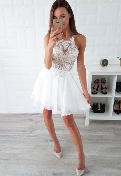 Sukienka MERCEDES ecru/beż