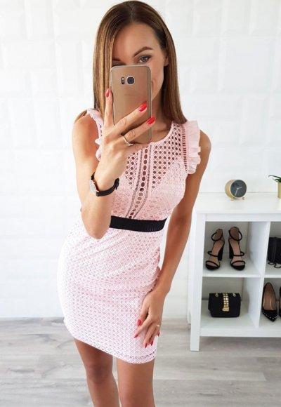 Sukienka SABRINA różowa