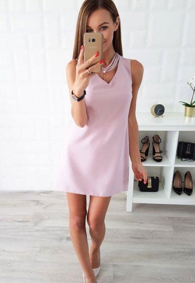 Sukienka OLEA fiolet wrzosowy