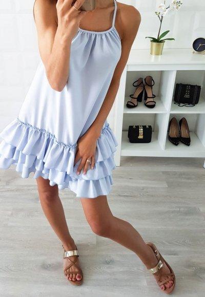 Sukienka NAOMI niebieska