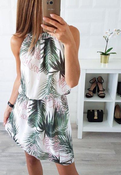 Sukienka LARA egzotyczne wzory