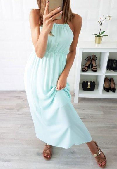 Sukienka SUNSET miętowa