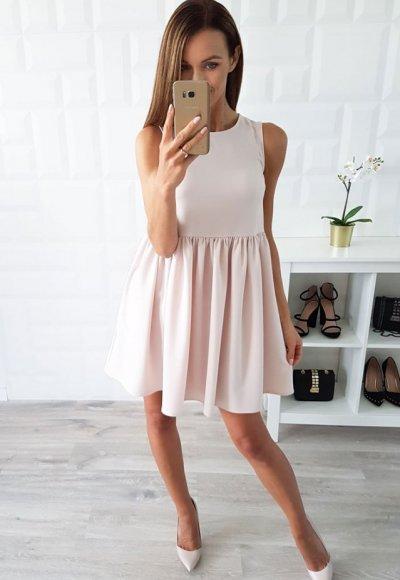 Sukienka LIVIEN beżowa