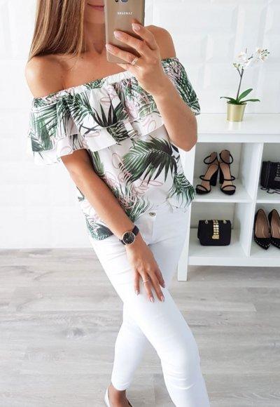 Bluzka NATALY egzotyczny wzór