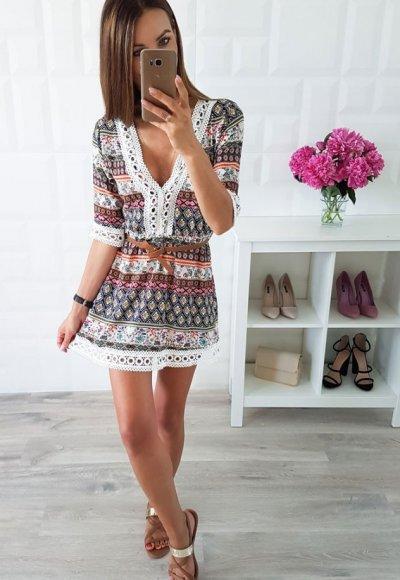 Sukienka BONITA II we wzory