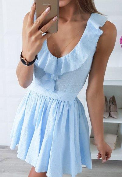 Sukienka CARMEN niebieska