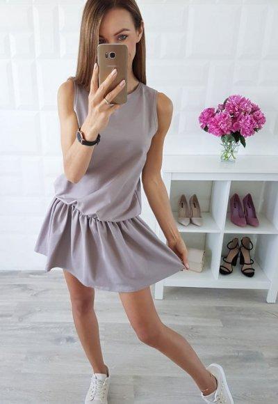 Sukienka SOFT ciemny beż
