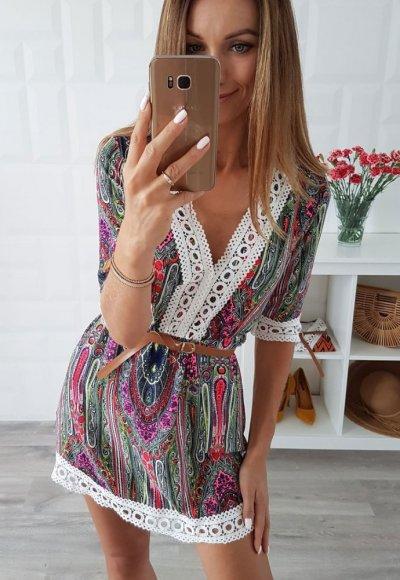 Sukienka BONITA V we wzory