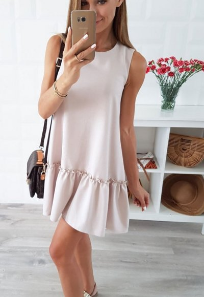 Sukienka FOLLONICA beż