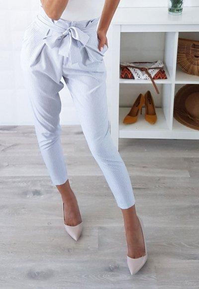 Spodnie PURE szare w białe paski