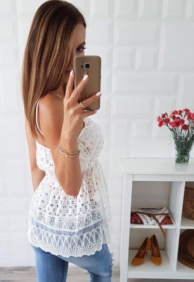 Bluzka AZURRO biała