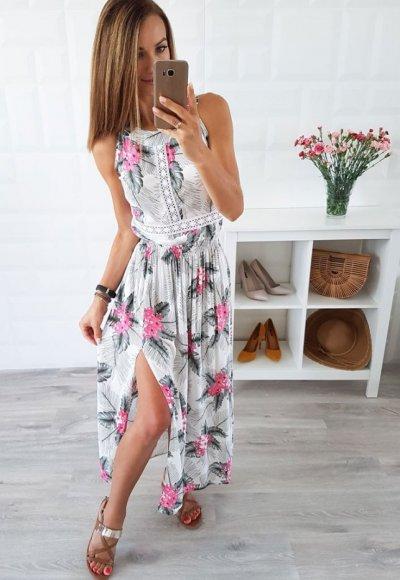Sukienka LANET kwiatowy wzór